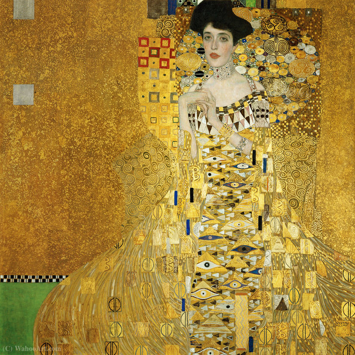 famous painting Portrait of Adele Bloch-Bauer I of Gustav Klimt