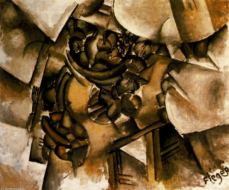| Fruit on the table by Fernand Leger | Most-Famous-Paintings.com