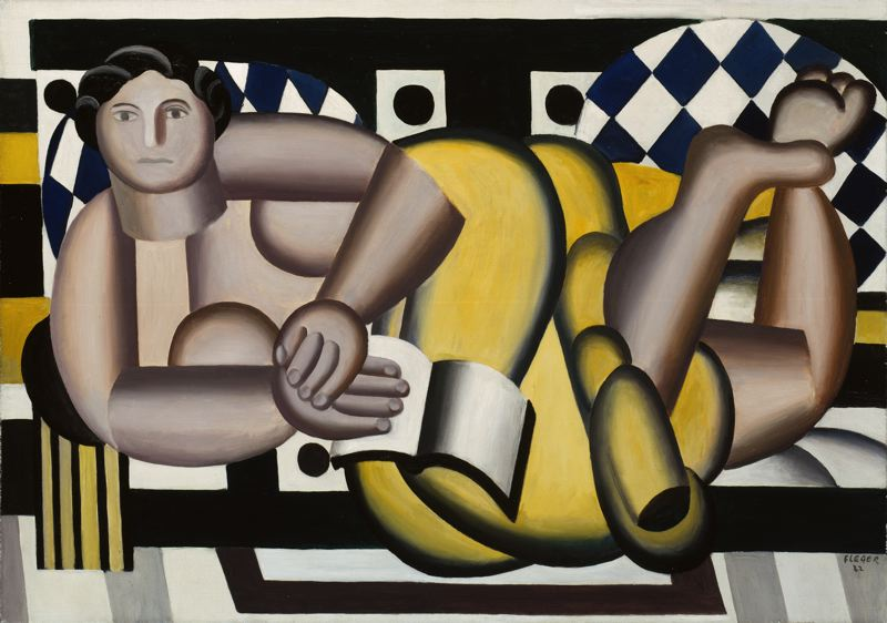 famous painting Reclining Woman of Fernand Leger