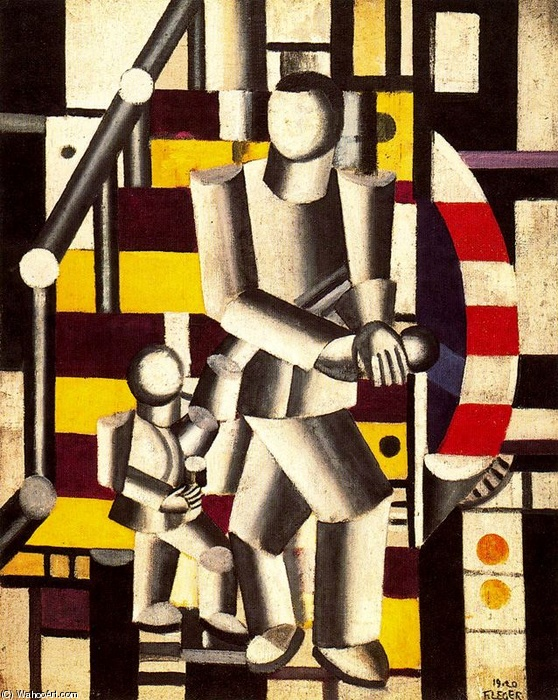 famous painting The Staircase2 of Fernand Leger