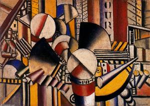 Fernand Leger - The tug pink