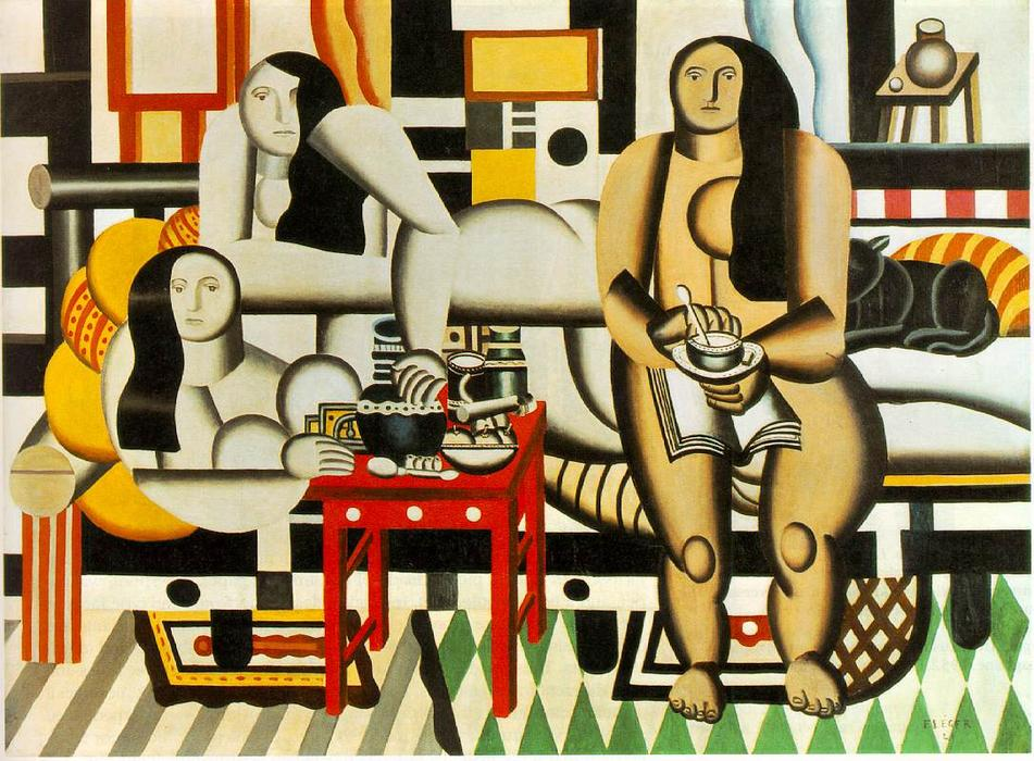 | Three Women by Fernand Leger | Most-Famous-Paintings.com