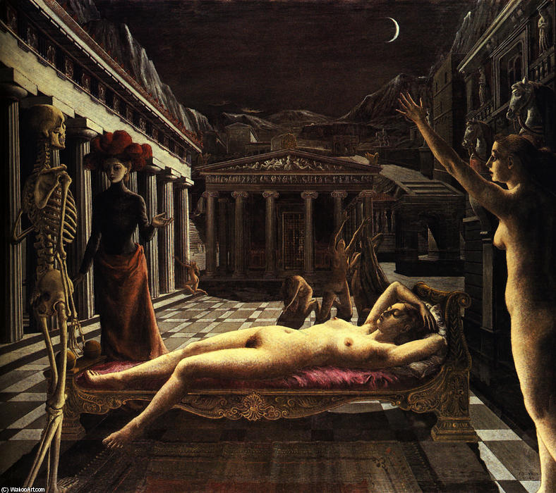 famous painting The Sleeping Venus of Paul Delvaux