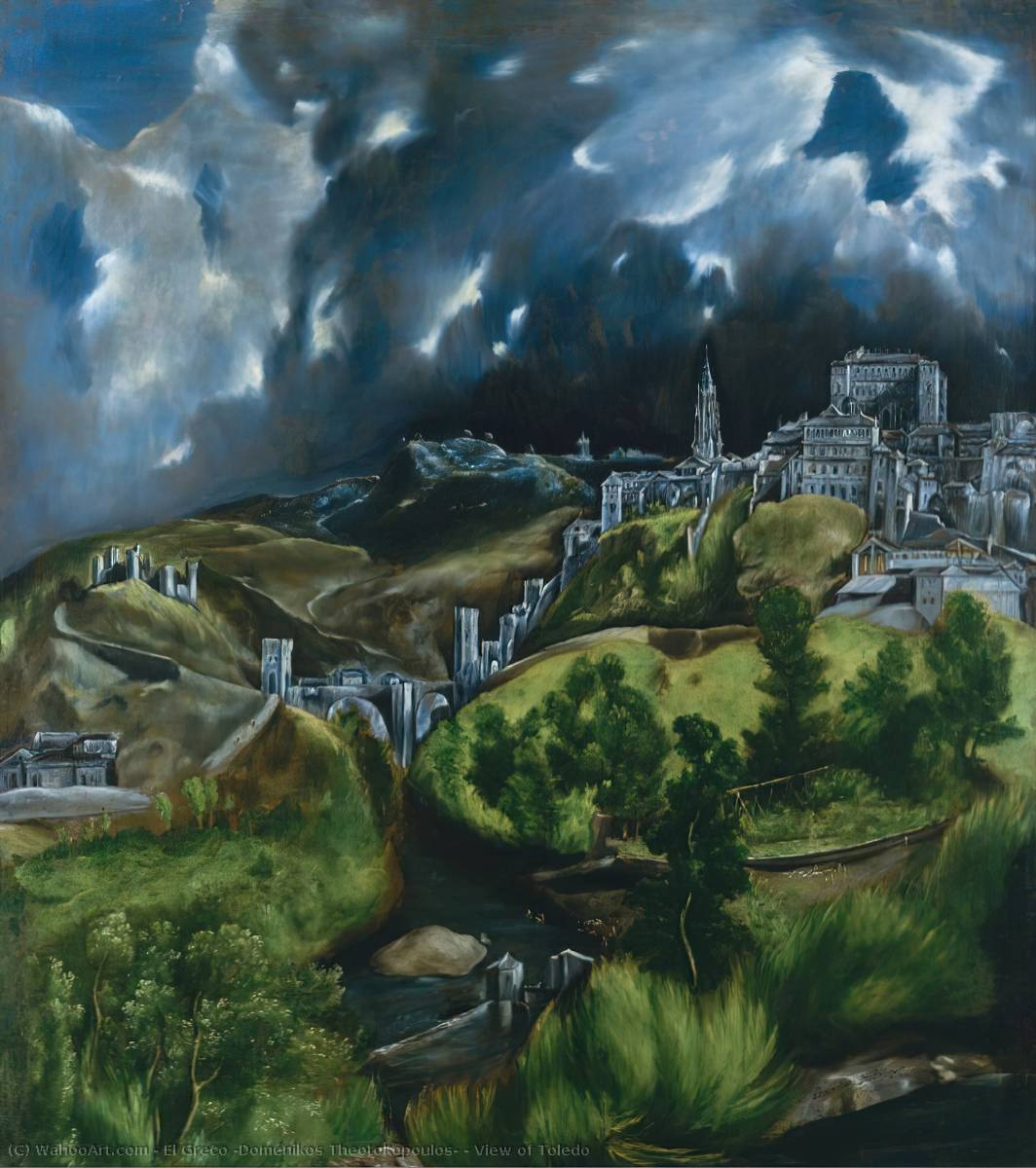 Order Paintings Reproductions | View of Toledo by El Greco (Doménikos Theotokopoulos) | Most-Famous-Paintings.com