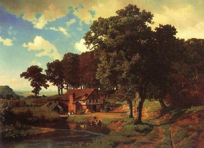 famous painting Rustic Mill of Albert Bierstadt