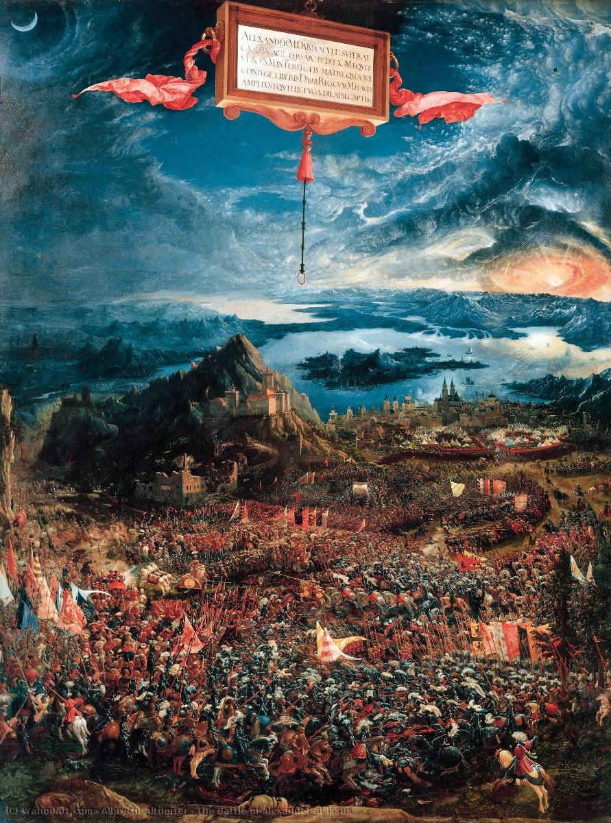 famous painting The Battle of Alexander at Issus of Albrecht Altdorfer