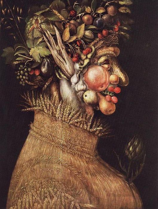 famous painting Summer 1 of Giuseppe Arcimboldo