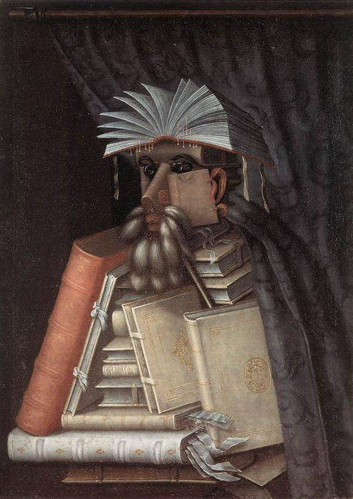 famous painting The Librarian of Giuseppe Arcimboldo