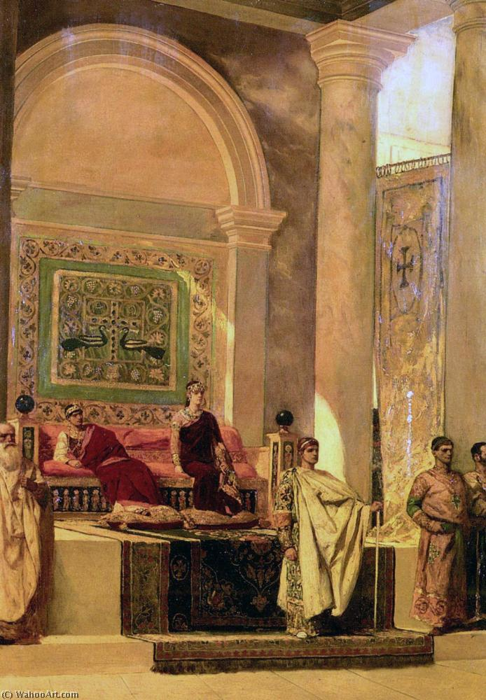 famous painting The Throne Room In Byzantium of Jean-Joseph Constant (Benjamin-Constant)