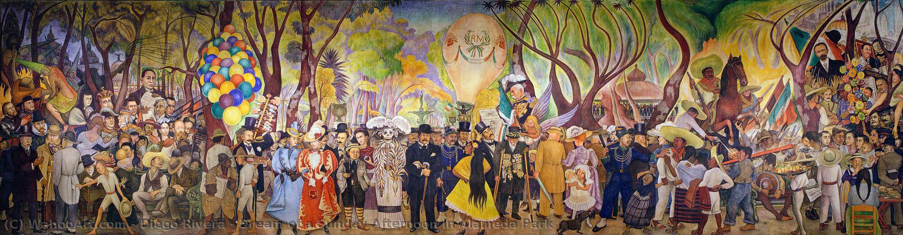 Dream of a Sundy Afternoon...by Diego Rivera Paper Print Repro