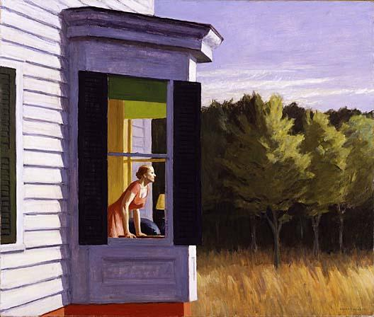 famous painting Cape Cod Morning of Edward Hopper