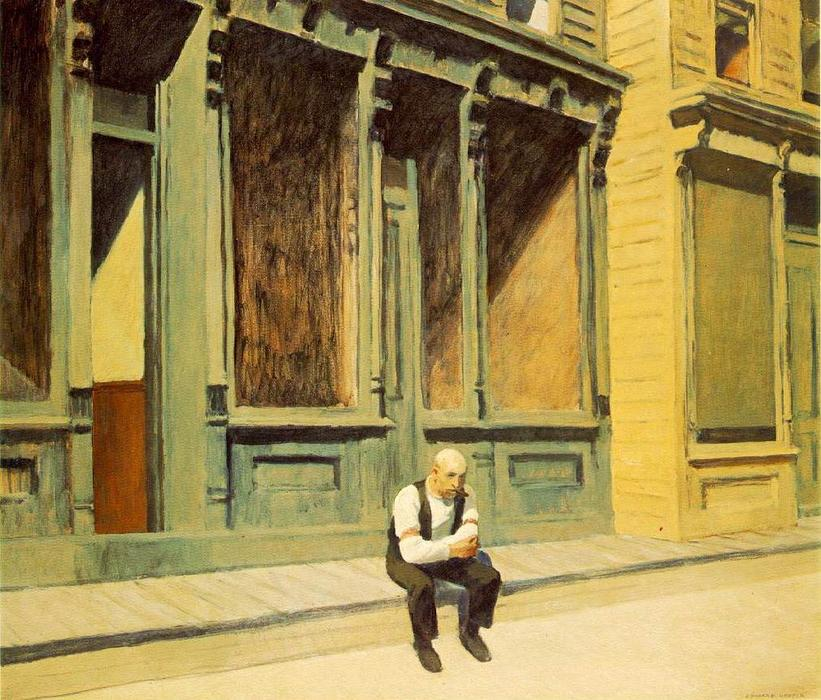 | Sunday by Edward Hopper | Most-Famous-Paintings.com