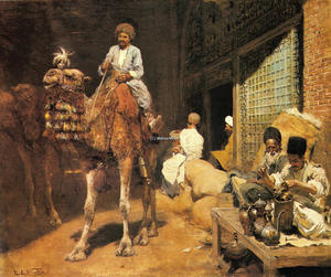 Edwin Lord Weeks - A Marketplace in Ispahan