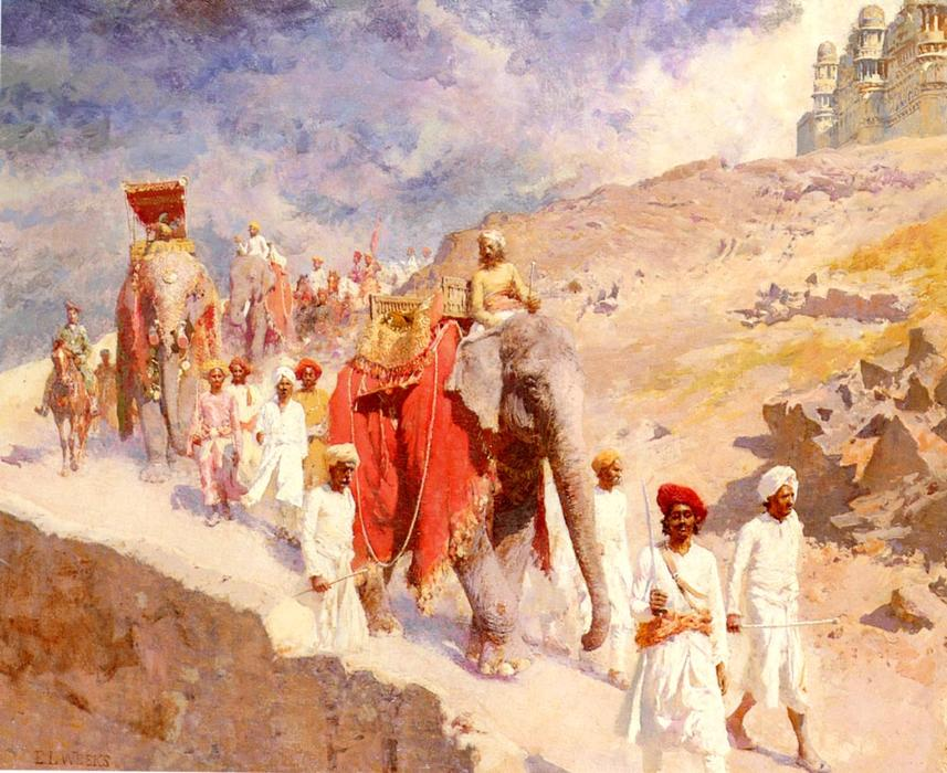 Buy Museum Art Reproductions | An Indian Hunting Party by Edwin Lord Weeks | Most-Famous-Paintings.com