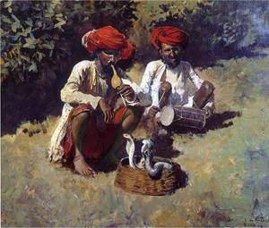 Edwin Lord Weeks - The Snake Charmers, Bombay