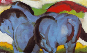 Franz Marc - The Little Blue Horses