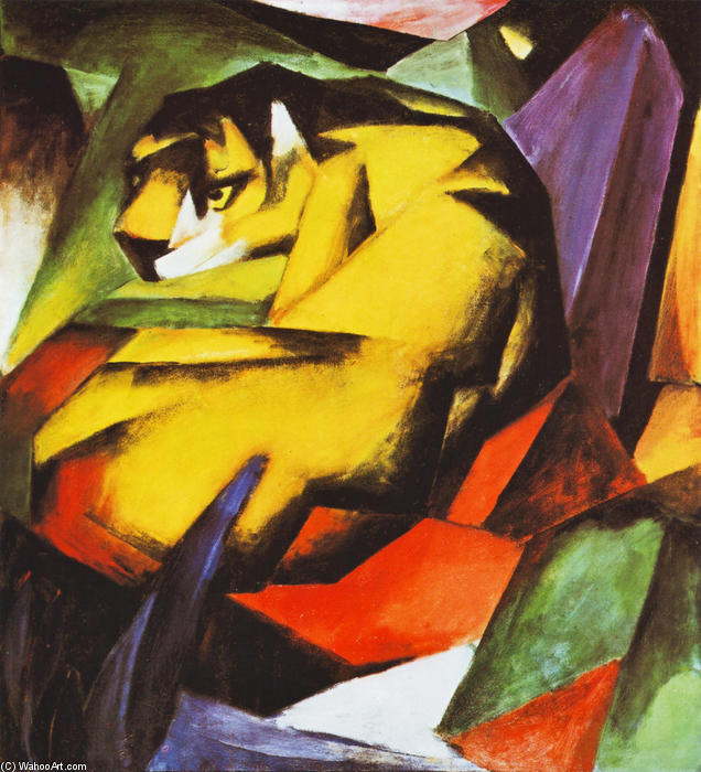 famous painting Tiger of Franz Marc