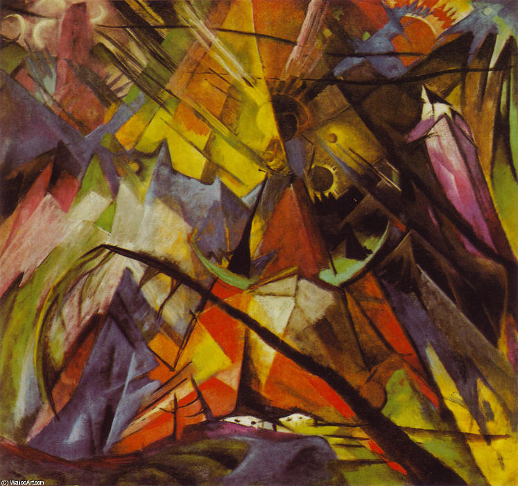 Order Paintings Reproductions | Tyrol by Franz Marc | Most-Famous-Paintings.com