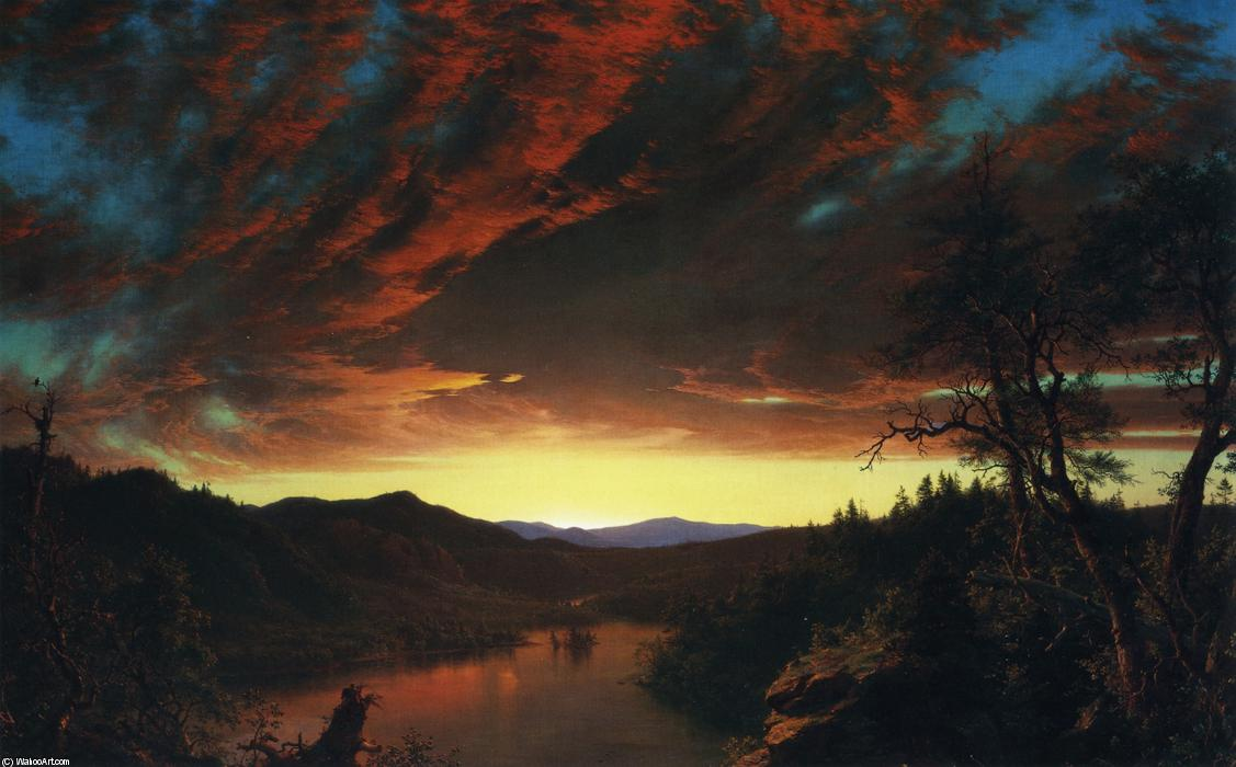 Buy Museum Art Reproductions | Twilight in the Wilderness by Frederic Edwin Church | Most-Famous-Paintings.com