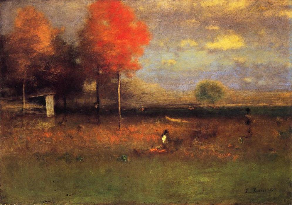 Indian Summer by George Inness | Oil Painting | Most-Famous