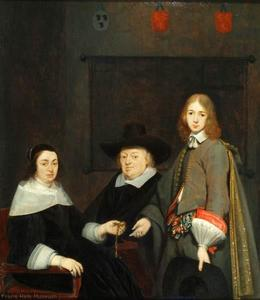 Gerard Ter Borch - Portrait of Anthonie Charles de Liedekercke, his wife Willemina van Braeckel and their son Samuel