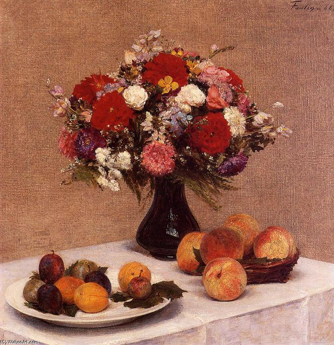 Order Paintings Reproductions | Flowers and Fruit by Henri Fantin Latour | Most-Famous-Paintings.com