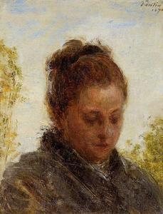 Henri Fantin Latour - Head of a Young Woman