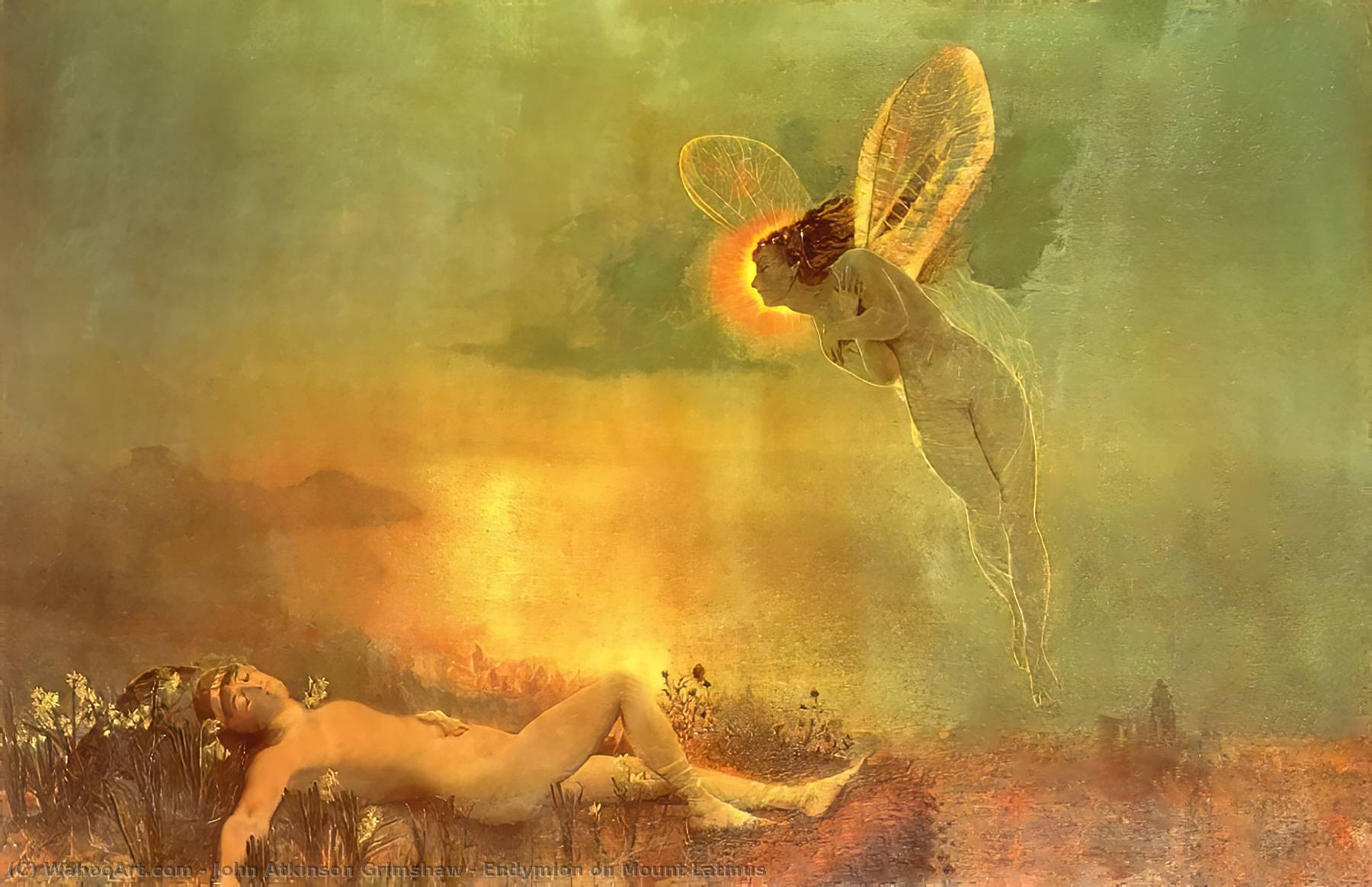 famous painting Endymion on Mount Latmus of John Atkinson Grimshaw