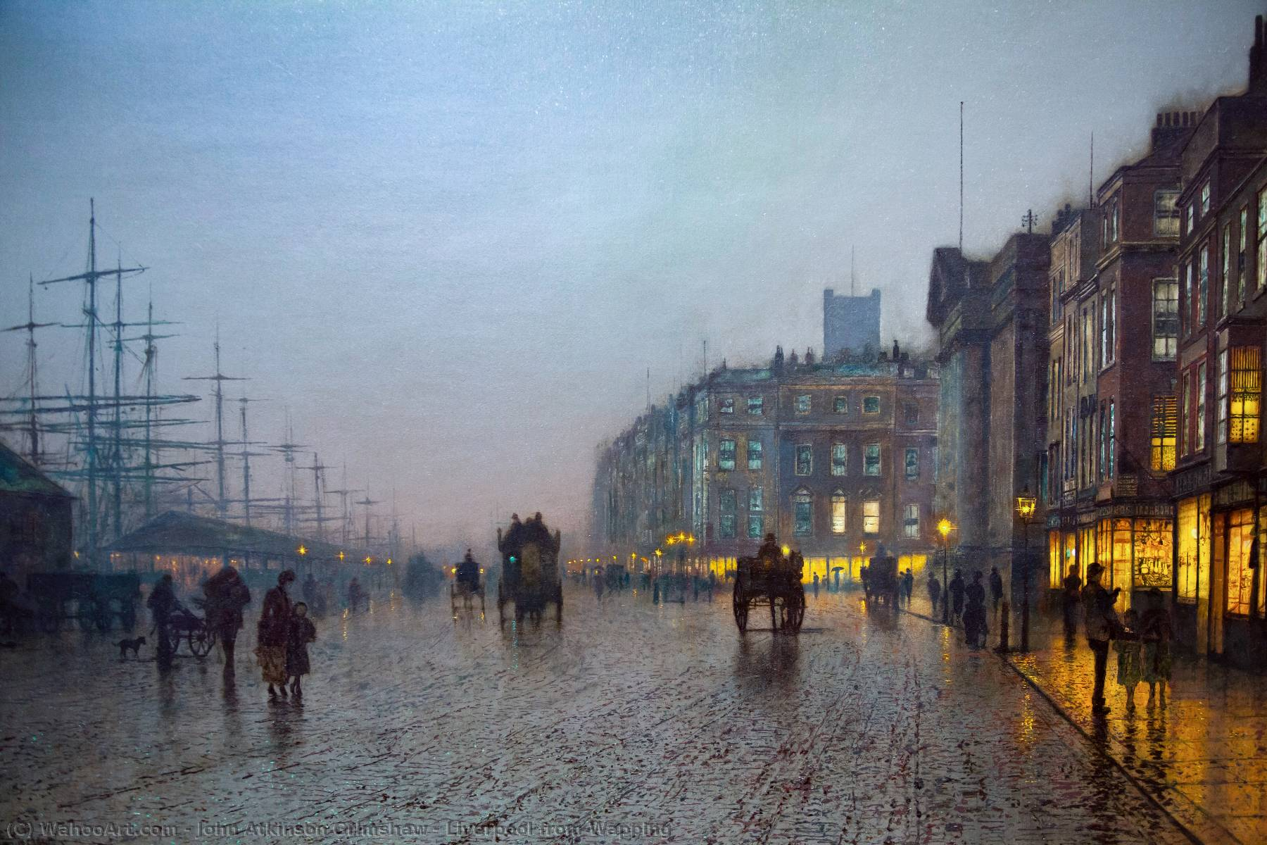 Order Oil Painting : Liverpool from Wapping by John Atkinson Grimshaw | Most-Famous-Paintings.com