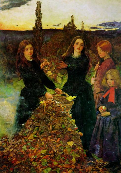 Order Art Reproductions : Autumn Leaves by John Everett Millais | Most-Famous-Paintings.com