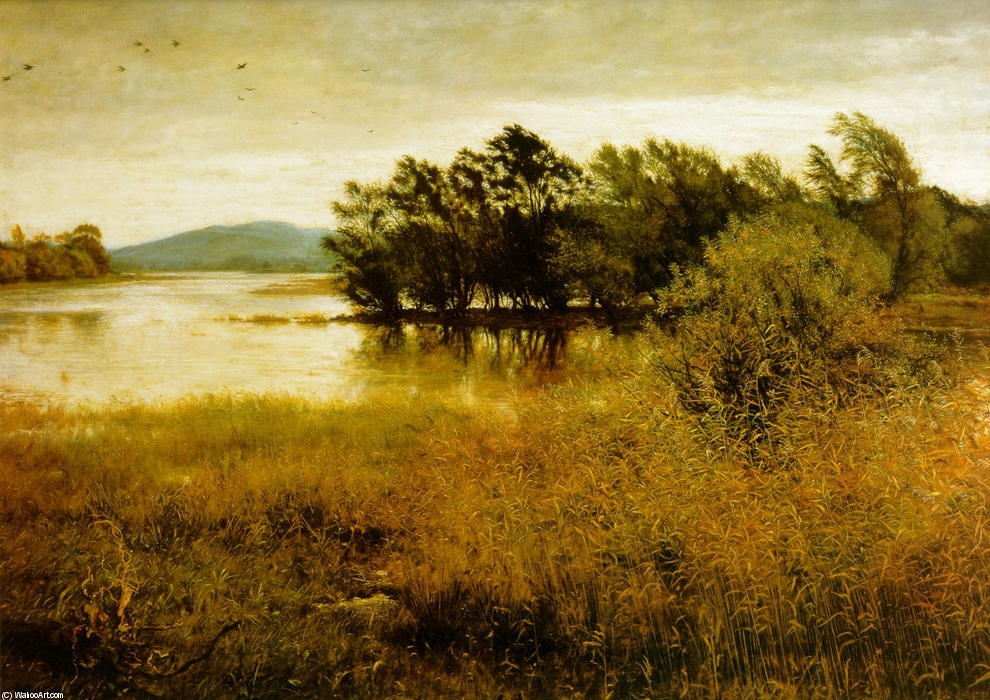 famous painting Chill-October of John Everett Millais