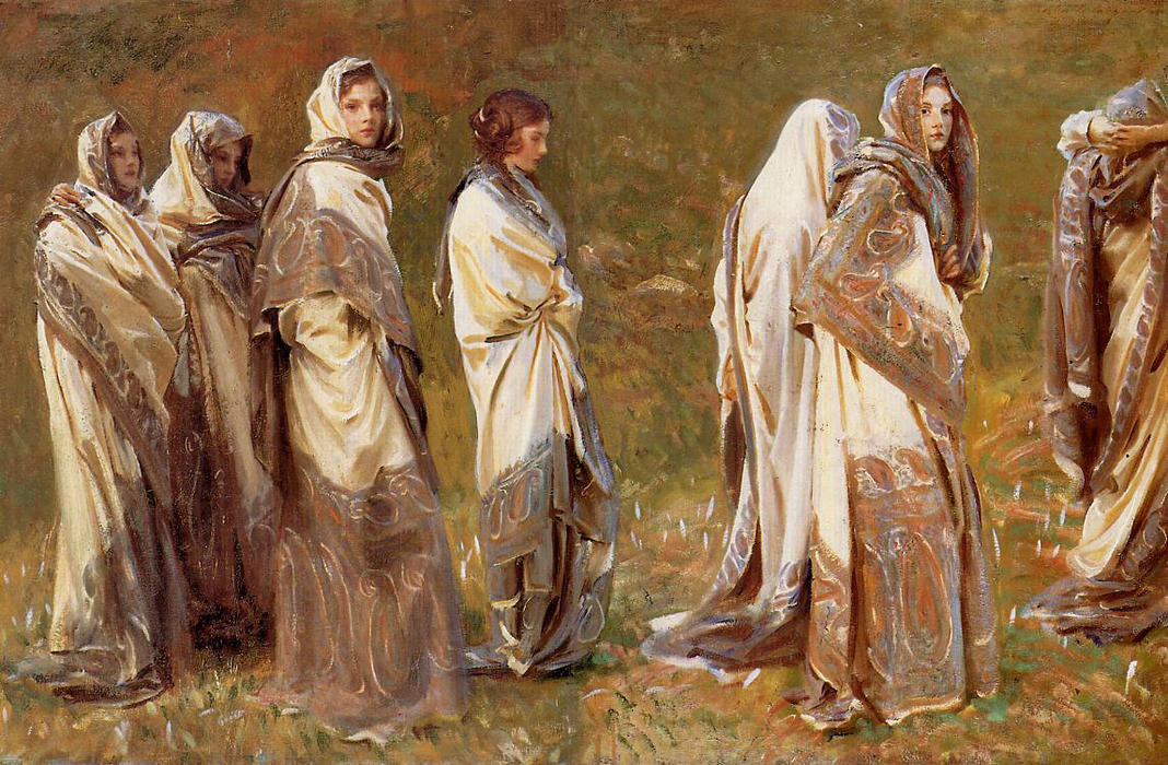 famous painting Cashmere of John Singer Sargent