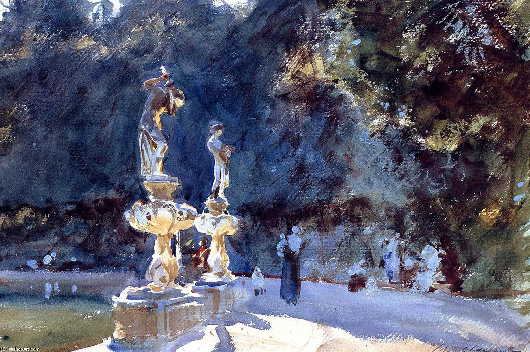 famous painting Florence Fountain, Boboli Gardens of John Singer Sargent