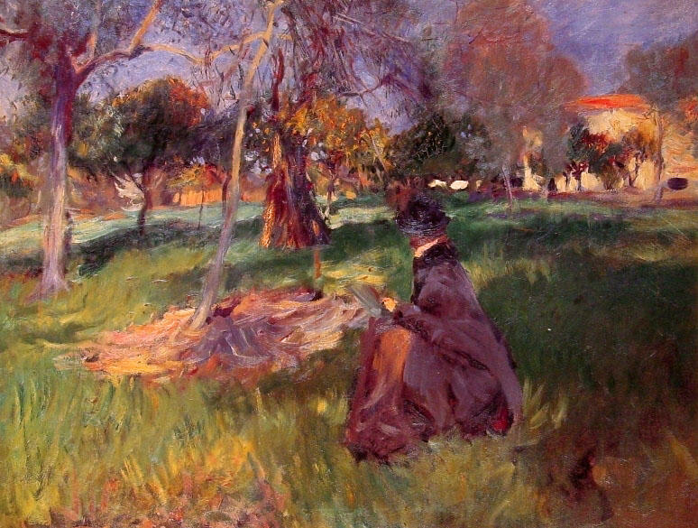 Order Paintings Reproductions | In the Orchard by John Singer Sargent | Most-Famous-Paintings.com
