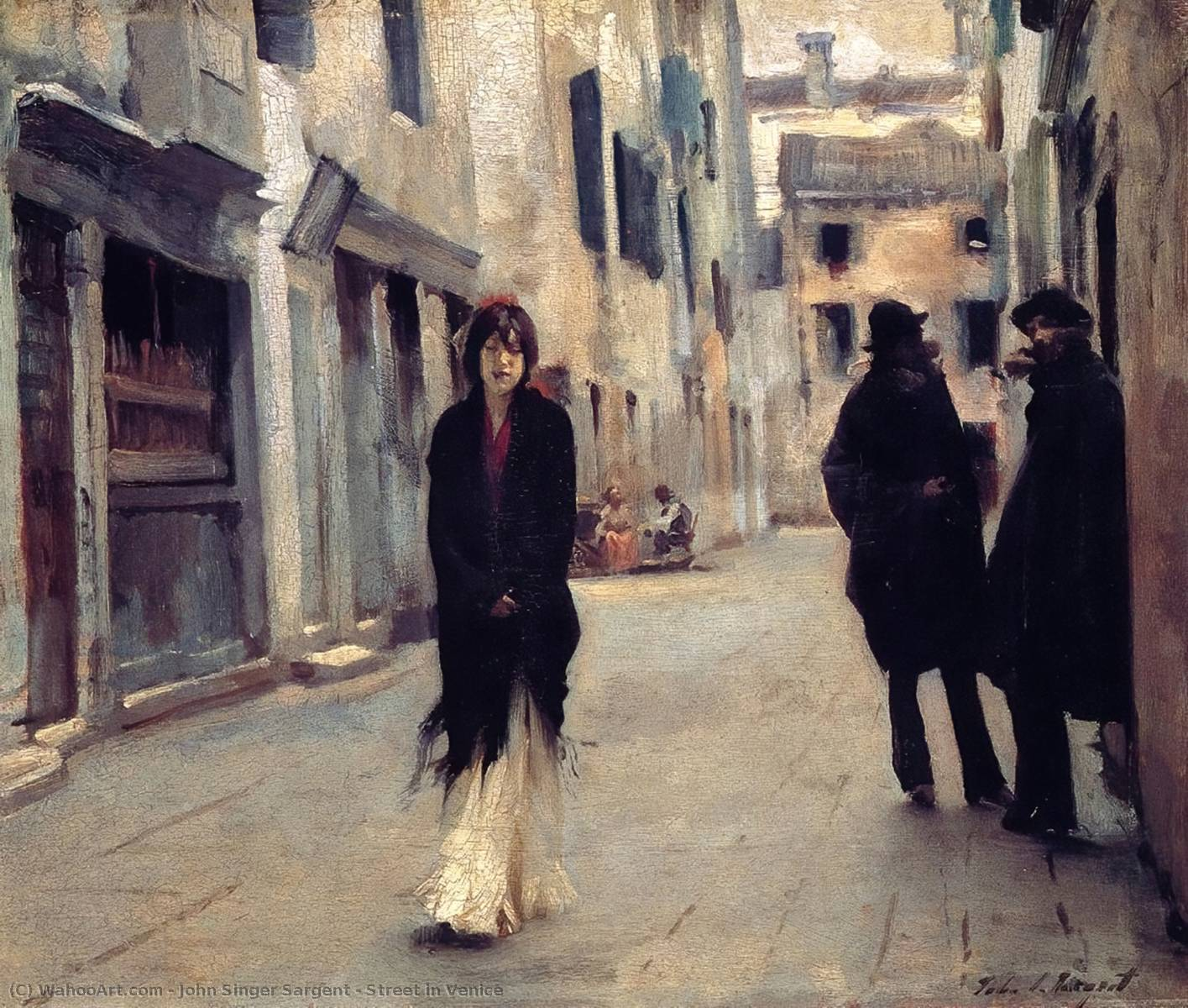 famous painting Street in Venice of John Singer Sargent