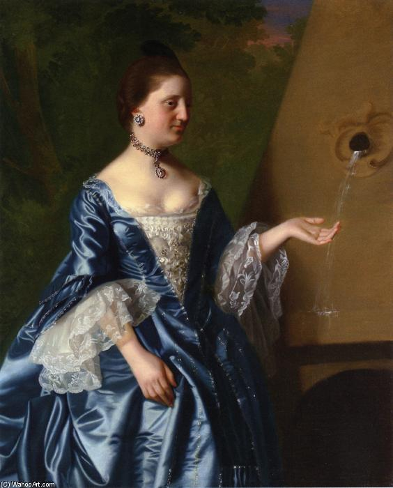 famous painting Mrs.Alice Hooper of John Singleton Copley