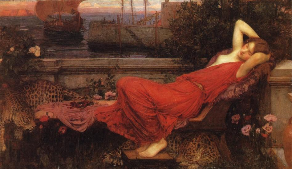 Order Art Reproductions | Ariadne by John William Waterhouse | Most-Famous-Paintings.com