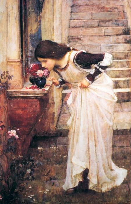 famous painting At the Shrine of John William Waterhouse