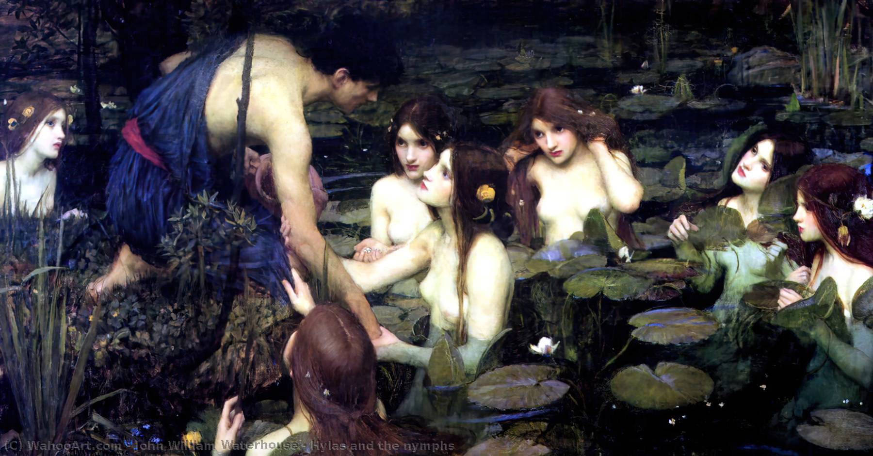 Buy Museum Art Reproductions | Hylas and the nymphs by John William Waterhouse | Most-Famous-Paintings.com