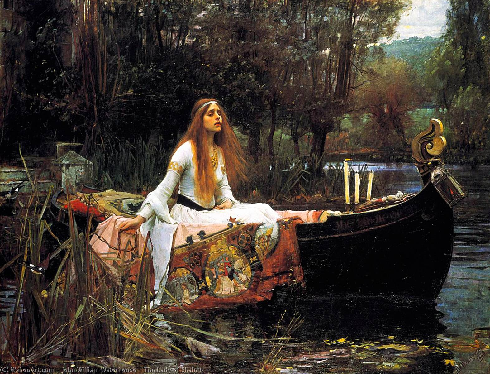 Order Reproductions | The Lady of Shalott by John William Waterhouse | Most-Famous-Paintings.com