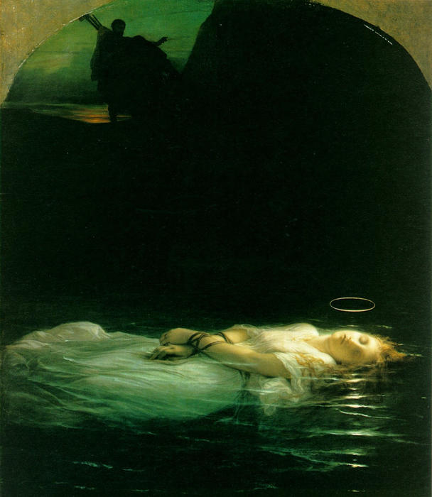 famous painting Young Christian Martyr of Paul Delaroche (Hippolyte Delaroche)