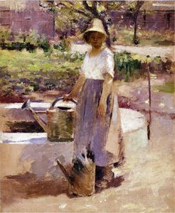 Theodore Robinson - At the Fountain 1