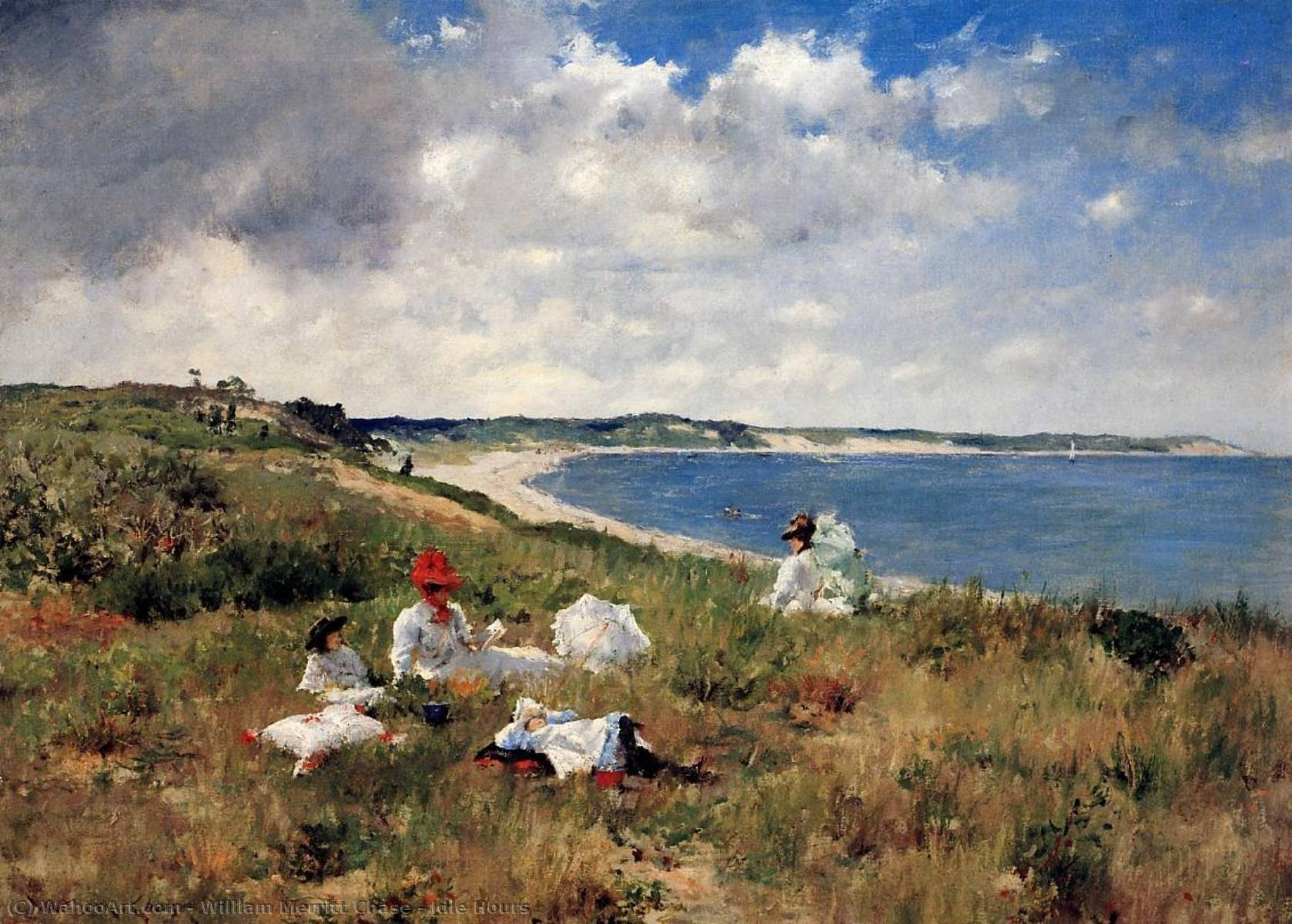 Buy Museum Art Reproductions : Idle Hours by William Merritt Chase | Most-Famous-Paintings.com