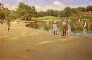 William Merritt Chase - The Lake for Miniature Yachts
