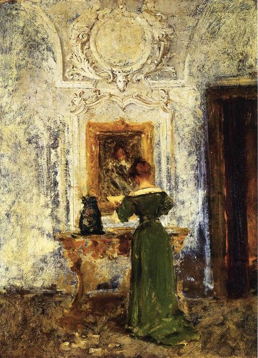famous painting Woman in Green aka Lady in Green of William Merritt Chase