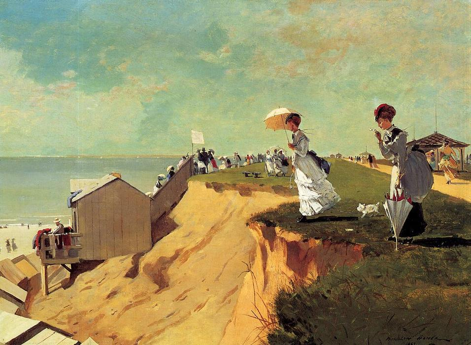 famous painting Long Branch, New Jersey of Winslow Homer