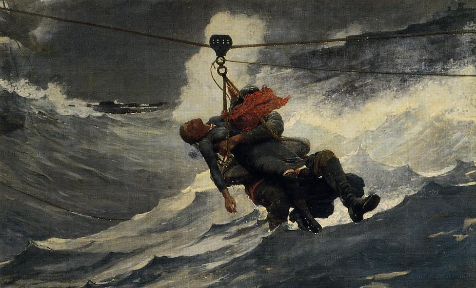Order Oil Painting : The Life Line by Winslow Homer | Most-Famous-Paintings.com