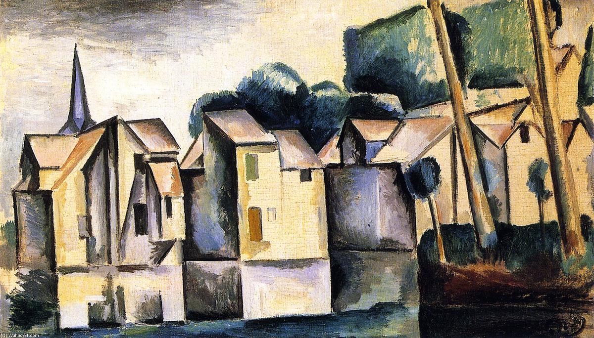 famous painting Houses on the Waterfront of André Derain