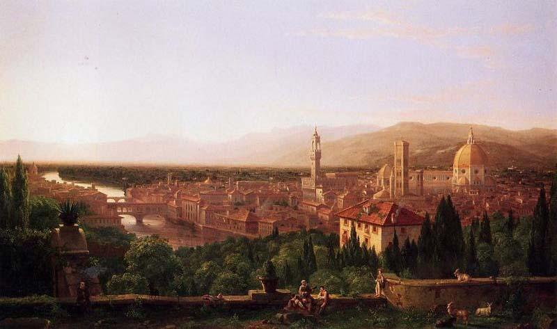 Order Museum Quality Copies | View of Florence from San Miniato by Thomas Cole | Most-Famous-Paintings.com
