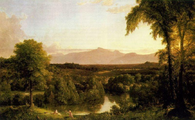 famous painting View on the Catskill - Early Autumn of Thomas Cole